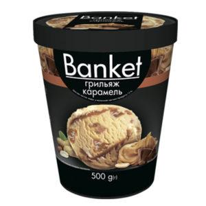 мороженое banket карамель