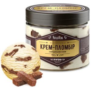 крем-пломбир с бородинским хлебом