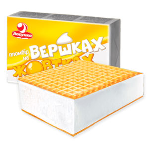 мороженое брикет Пломбир на сливках и желтках брикет