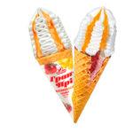 мороженое рожок гран при клубника манго