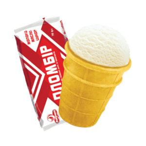 мороженое в стаканчике пломбир