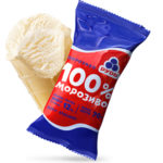 мороженое 100% в стаканчике