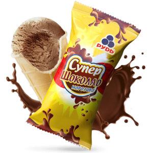 мороженое супершоколад в стаканчике
