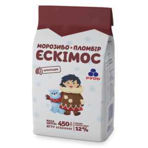 мороженое эскимос шоколадный 450 г