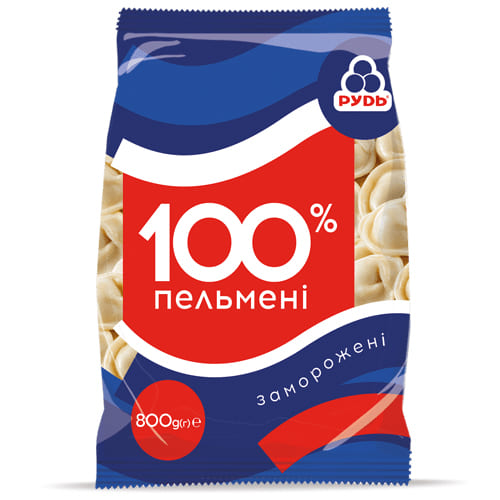 пельмени 100 рудь 800г